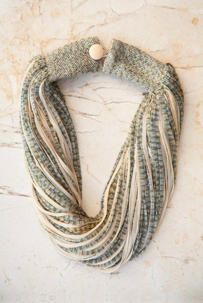 accesorios collar de seda jasp beige verde 01