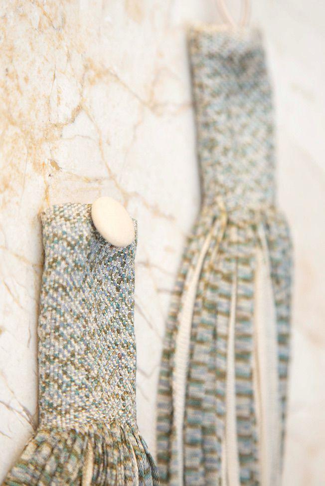 accessories necklace silk jasp beige green 03