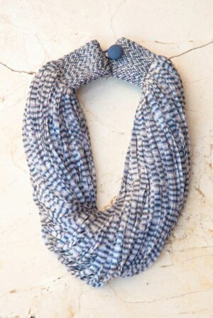 accessories necklace silk jasp blue grey 01