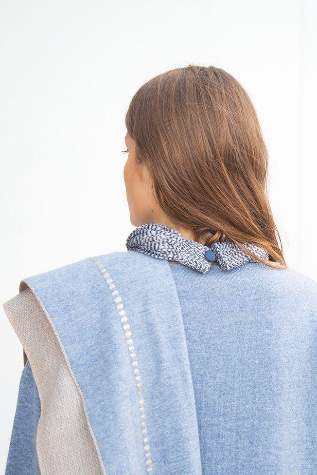 accessories necklace silk jasp blue grey 04