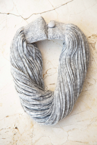 accessories necklace wool grey