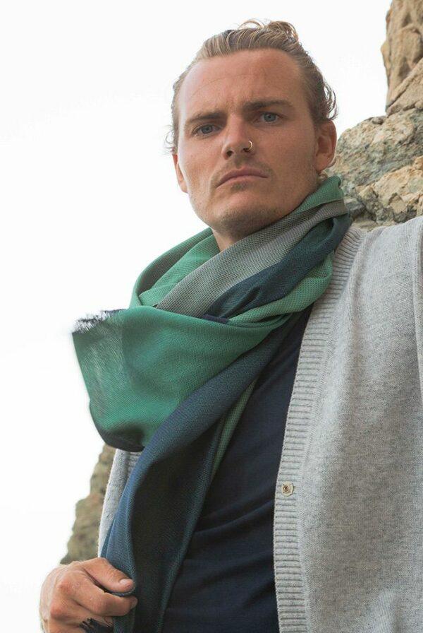 foulard green blue 4 02