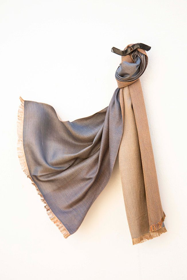 foulard gris camel 01