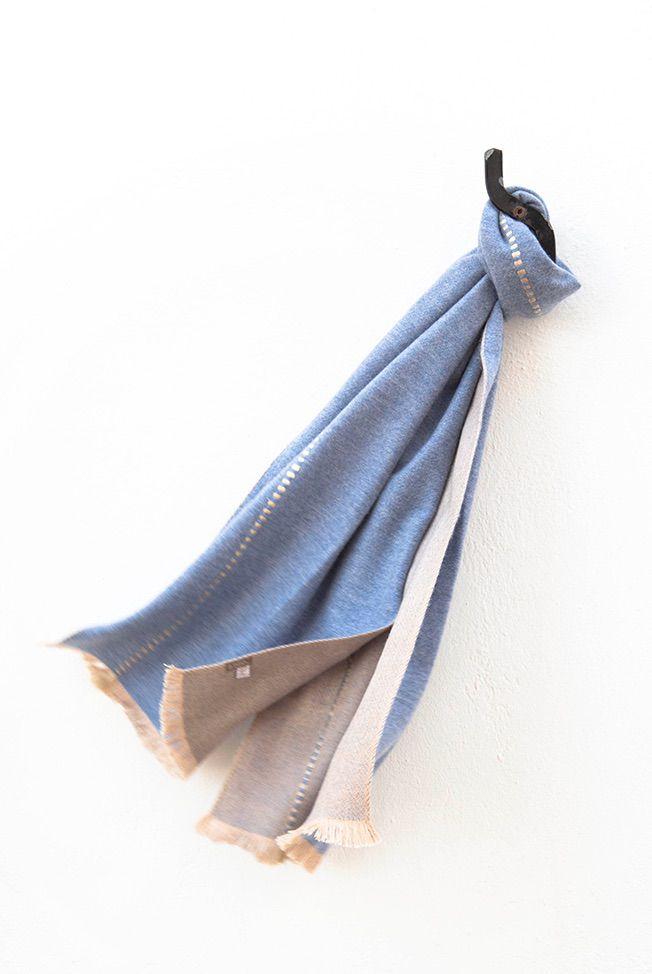 foulard jeans blue beige reliefs 01