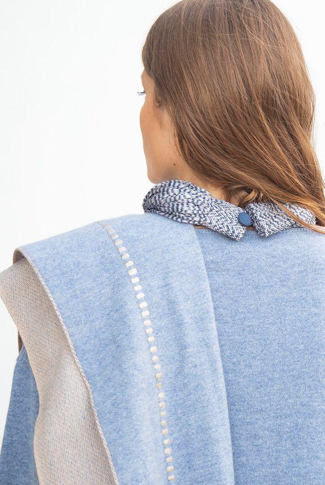 foulard jeans blue beige reliefs 02