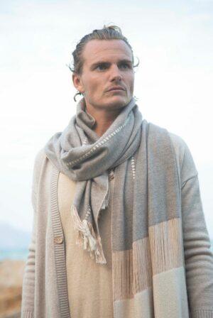 foulard taupe beige reliefs 02