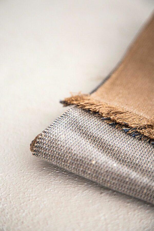 shawl fine beige camel 4c sequins 04